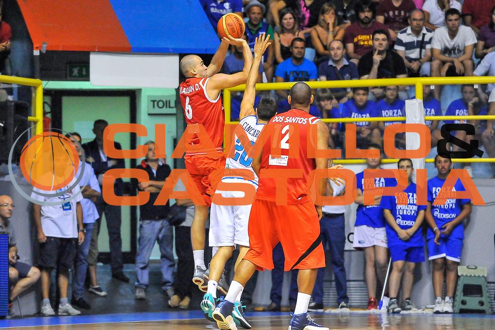 DESCRIZIONE : Cagliari Qualificazione Eurobasket 2015 Qualifying Round Eurobasket 2015 Italia Svizzera - Italy Switzerland<br /> GIOCATORE : Dusan Mladjan<br /> CATEGORIA : Tiro Tre Punti Controcampo<br /> EVENTO : Cagliari Qualificazione Eurobasket 2015 Qualifying Round Eurobasket 2015 Italia Svizzera - Italy Switzerland<br /> GARA : Italia Svizzera - Italy Switzerland<br /> DATA : 17/08/2014<br /> SPORT : Pallacanestro<br /> AUTORE : Agenzia Ciamillo-Castoria/ Luigi Canu<br /> Galleria: Fip Nazionali 2014<br /> Fotonotizia: Cagliari Qualificazione Eurobasket 2015 Qualifying Round Eurobasket 2015 Italia Svizzera - Italy Switzerland<br /> Predefinita :