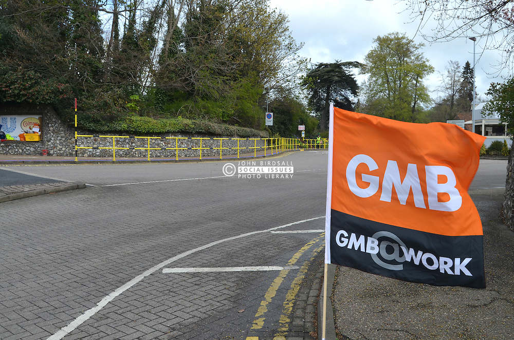 Strike at Colman's mustard factory (owned by Unilever), Norwich, in a dispute over pay. GMB & Unite members want 2.4% increase. 26/4/16
