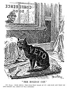"""The Holiday Cat."" PC Punch. ""Poor devil! The fuss they made of it! - And now off they go and forget all about it till October."""