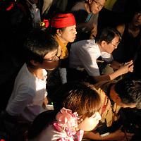 Politicians  against restart of nuclear plants front of Japan parlament