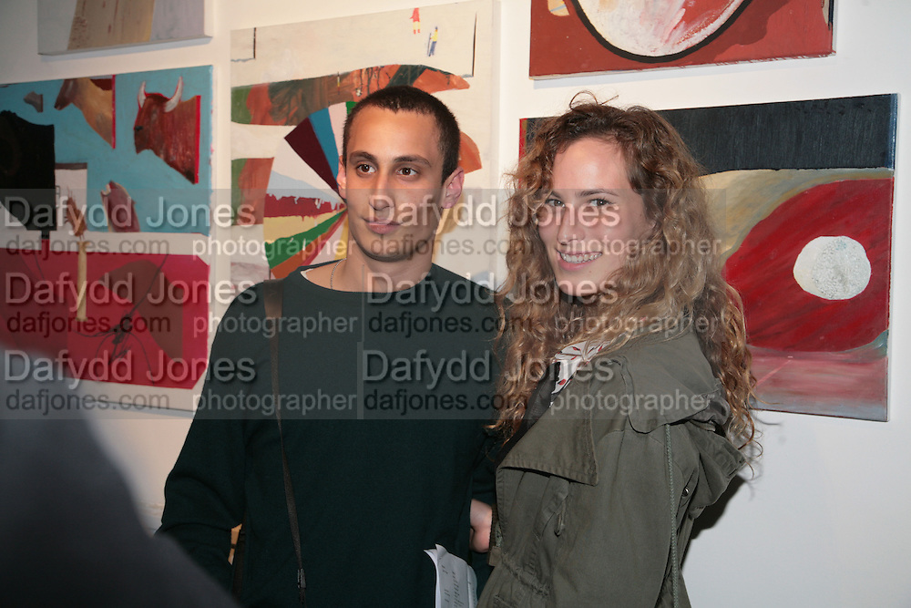 ALEXANDER DELLAL AND CHARLOTTE DELLAL,  Twenty Hoxton Square. Opening exhibition of new gallery at Twenty Hoxton Square. -DO NOT ARCHIVE-© Copyright Photograph by Dafydd Jones. 248 Clapham Rd. London SW9 0PZ. Tel 0207 820 0771. www.dafjones.com.