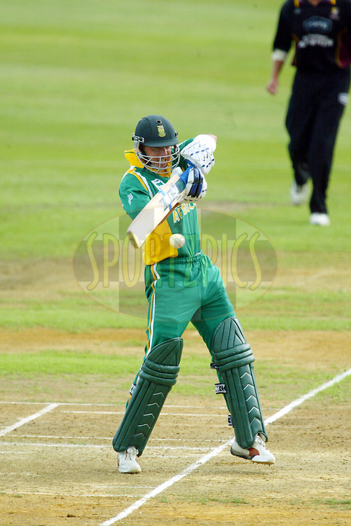 11th February 2004. Cricket, South African tour of New Zealand, Westpac Park, Hamilton, New Zealand..South Africa vs Northern Knights..Herschelle Gibbs (SA) batting.South Africa won by 6 wickets..Please credit: Sandra Teddy/ Photosport