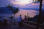 PA landscapes, Susquehanna River, young couple, sunset