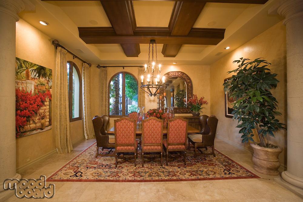 Luxury interior design dinning room