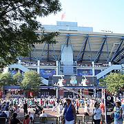 Spectators outside Arthur Ashe Stadium during the US Open Tennis Tournament, Flushing, New York, USA. 4th September 2014. Photo Tim Clayton