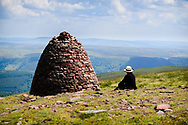 This huge cairn can be seen from quite a distance.  Hard to believe there are still rocks on the ground here.
