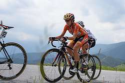 Eveylyn Stevens (Boels Dolmans) in the lead group after catching Niewiadoma at Giro Rosa 2016 - Stage 6. A 118.6 km road race from Andora to Alassio, Italy on July 7th 2016.