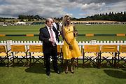 SALMAN RUSHDIE; AITA IGHODARO. 2008 Veuve Clicquot Gold Cup Polo final at Cowdray Park. Midhurst. 20 July 2008 *** Local Caption *** -DO NOT ARCHIVE-© Copyright Photograph by Dafydd Jones. 248 Clapham Rd. London SW9 0PZ. Tel 0207 820 0771. www.dafjones.com.