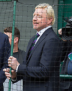 BORIS BECKER, TV Kommentator auf dem Centre Court<br /> <br /> Tennis - Wimbledon 2016 - Grand Slam ITF / ATP / WTA -  AELTC - London -  - Great Britain  - 16 July 2017.