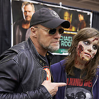 MINNEAPOLIS, MN - MAY3: Actor Michael Rooker poses during an autograph session at the first Wizard World Comic Con at the Minneapolis Convention Center on May 3, 2014 in Minneapolis, Minnesota. (Photo by Adam Bettcher/Getty Images) *** Local Caption ***  Michael Rooker