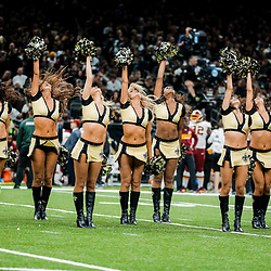 Nov 19, 2017; New Orleans, LA, USA; New Orleans Saints Saintsations cheerleaders perform during the second half of a game against the Washington Redskins at the Mercedes-Benz Superdome. The Saints defeated the Redskins 34-31 in overtime. Mandatory Credit: Derick E. Hingle-USA TODAY Sports
