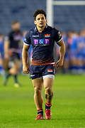 Jaun Pablo Socino (#23) of Edinburgh Rugby during the Guinness Pro 14 2018_19 match between Edinburgh Rugby and Dragons Rugby at BT Murrayfield Stadium, Edinburgh, Scotland on 15 February 2019.