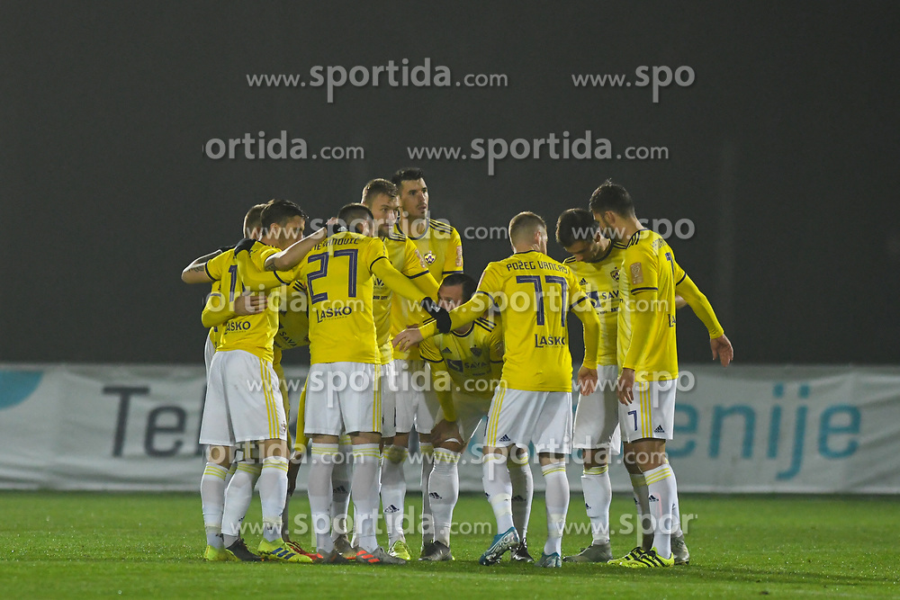Players of Maribor before football match between NK Aluminij and NK Maribor in 18th Round of Prva liga Telekom Slovenije 2019/20, on November 24, 2019 in Sportni park Aluminij, Kidricevo Slovenia. Photo by Milos Vujinovic / Sportida