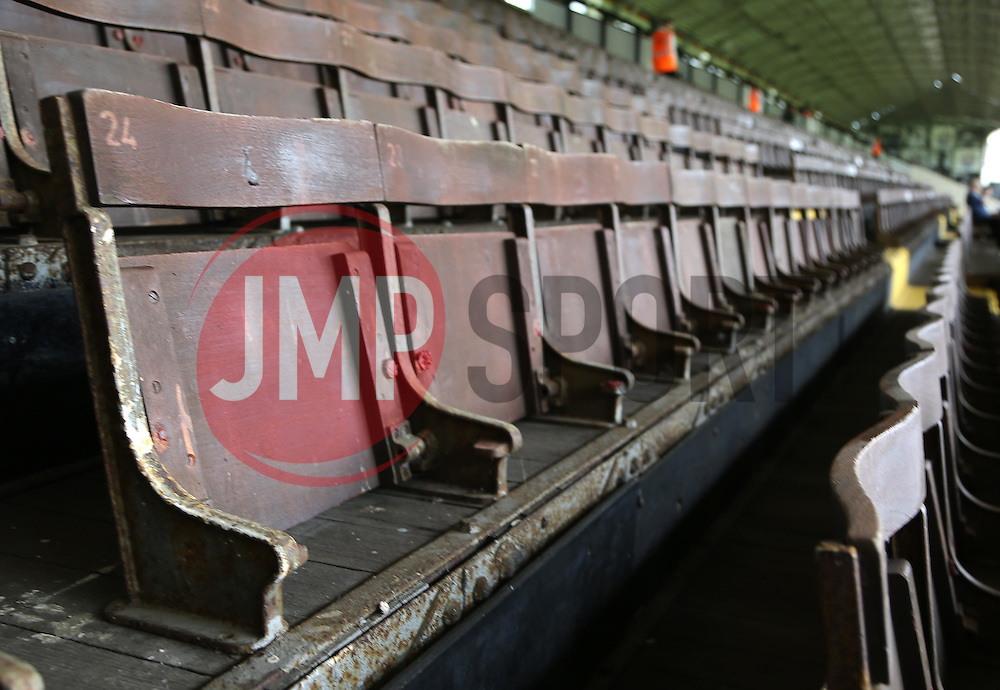 A view of the old seating in the stadium - Mandatory by-line: Paul Terry/JMP - 07966386802 - 01/08/2015 - SPORT - FOOTBALL - Fulham,England - Craven Cottage - Fulham v Crystal Palace - Pre-Season Friendly