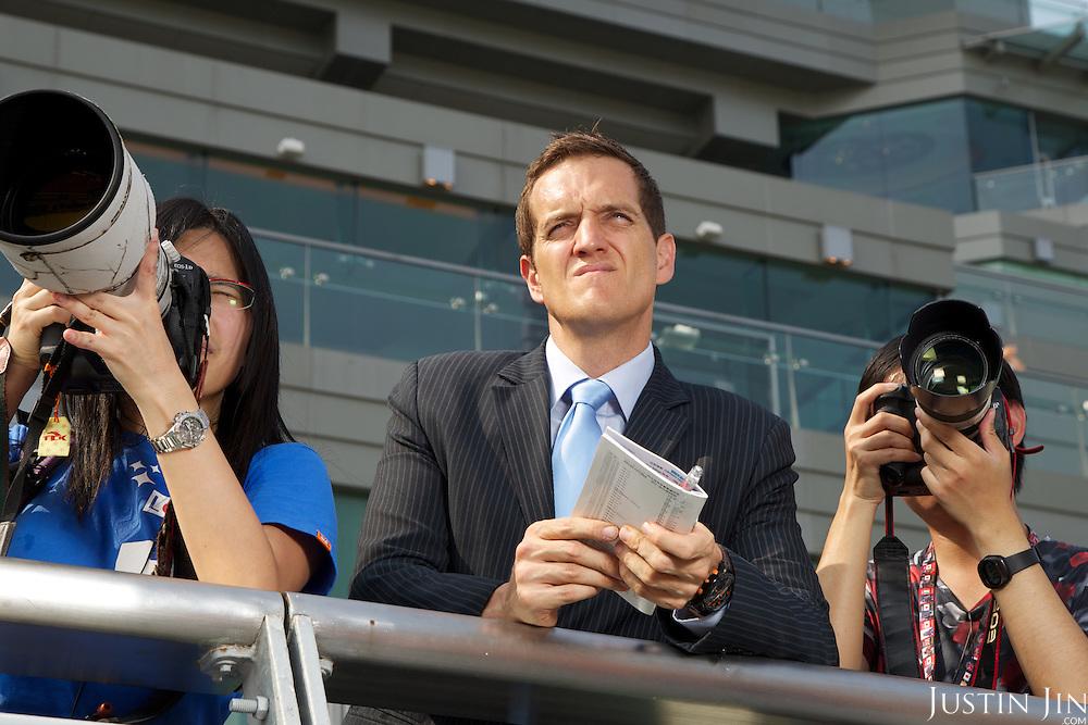 South China Morning Post racing correspondent Michael Cox at the Hong Kong Jockey Club's Shatin Racecourse.