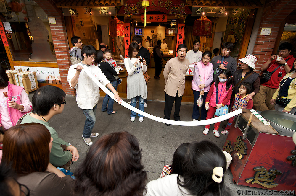 Traditional foods and treats made the old way are on display at the National Center for Traditional Arts in Wujie Township.