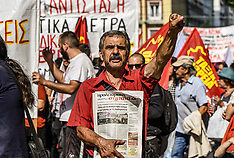 24h general strike in Greece, Athens, 2 October 2019