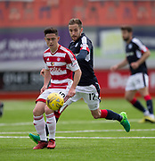 Hamilton&rsquo;s Daniel Redmond and Dundee&rsquo;s Nick Ross - Hamilton Academical v Dundee in the Ladbrokes Scottish Premiership at the SuperSeal Stadium, Hamilton, Photo: David Young<br /> <br />  - &copy; David Young - www.davidyoungphoto.co.uk - email: davidyoungphoto@gmail.com