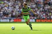 Forest Green Rovers Christian Doidge(9) on the ball during the Vanarama National League Play Off Final match between Tranmere Rovers and Forest Green Rovers at Wembley Stadium, London, England on 14 May 2017. Photo by Shane Healey.