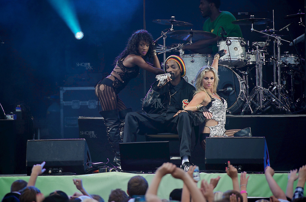 Snoop Dogg performs during the 2012 Ruisrock festival in Turku, Finland.  on 08 July 2012. (Photo by Shoja Lak)