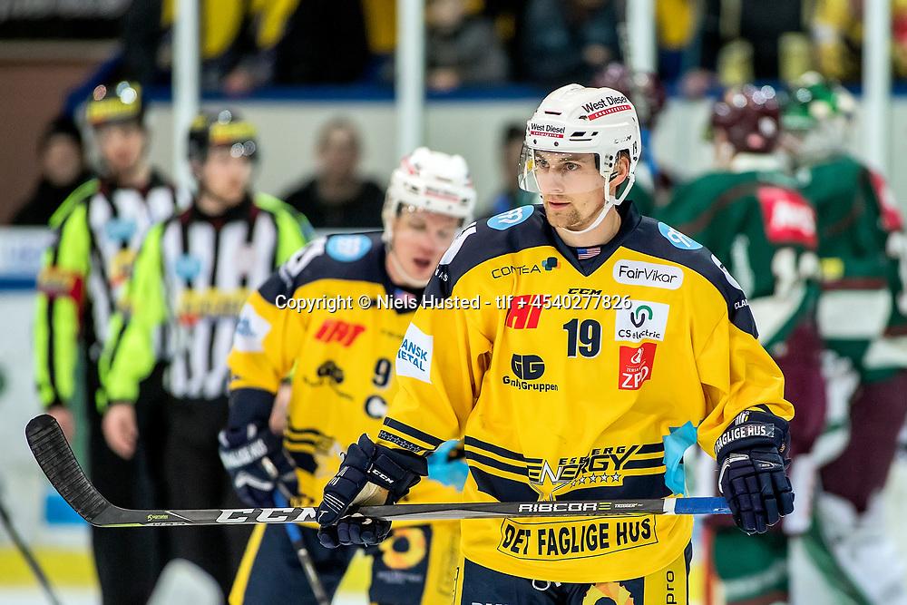 Ishockey, Metalligaen, Esbjerg Energy og Odense Bulldogs 3:1. #19 Justin Crandall, Esbjerg Energy
