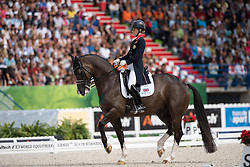 Charlotte Dujardin, (GBR), Valegro - Freestyle Grand Prix Dressage - Alltech FEI World Equestrian Games™ 2014 - Normandy, France.<br /> © Hippo Foto Team - Jon Stroud<br /> 25/06/14