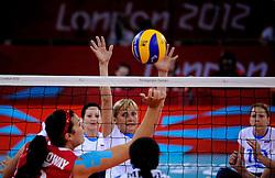 01-09-2012 ZITVOLLEYBAL: PARALYMPISCHE SPELEN 2012 USA - SLOVENIE: LONDEN<br />In ExCel South Arena wint USA van Slovenie / Stefka TOMIC<br />©2012-FotoHoogendoorn.nl