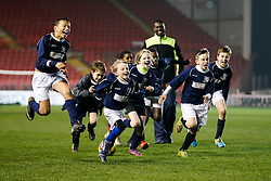 St Bon's School celebrate winning a penalty shootout to make the Final of the Cup - Photo mandatory by-line: Rogan Thomson/JMP - Mobile: 07966 386802 - 19/03/2015 - SPORT - Football - Bristol - Ashton Gate - Bristol Sport Schools Cup.
