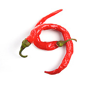 Red Chilli pepper on white background