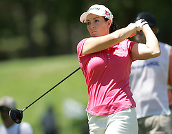 (Canberra, Australia---30 January 2011) Rebecca Flood of NSW, Australia playing in the final round of the ActewAgl Royal Canberra Ladies golf tournament as part of the 2011 Australian Ladies Pro Golf Tour./ 2011 Copyright Sean Burges. For Australian editorial sales, contact seanburges@yahoo.com.