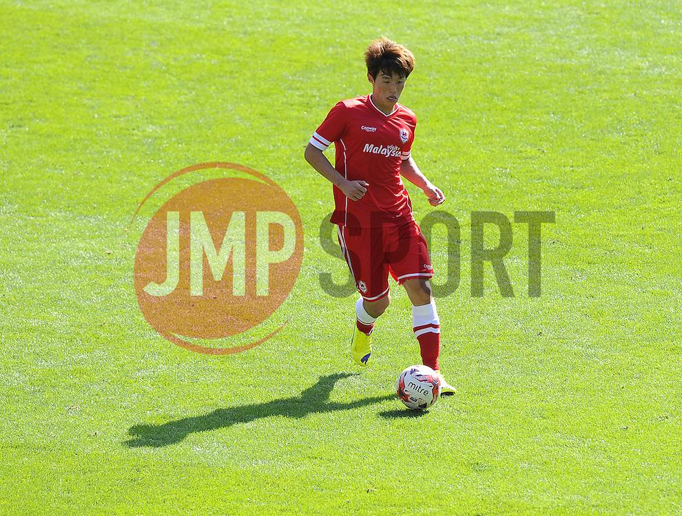 Cardiff City's Kim Bo Kyung - Photo mandatory by-line: Joe Meredith/JMP - Mobile: 07966 386802 02/08/2014 - SPORT - FOOTBALL - Cardiff - Cardiff City Stadium - Cardiff City v VfL Wolfsburg - Pre-Season Friendly