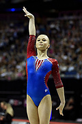 Angelina Melnikova of Russia (RUS) at the start of her Beam routine during the iPro Sport World Cup of Gymnastics 2017 at the O2 Arena, London, United Kingdom on 8 April 2017. Photo by Martin Cole.
