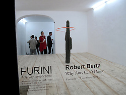 "Gallerie aperte a roma per la giornata del contemporaneo. Evento Roma art 2 nights.<br /> Galleria Furini - ROBERT BARTA ""Why Ants Can't Dance"""