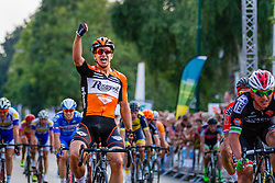 Dylan Groenewegen (NED,ROP) sprinting to victory during the Arnhem - Veenendaal Classic at the finish, Veenendaal, Utrecht, The Netherlands, 21 August 2015.<br /> Photo: Thomas van Bracht / PelotonPhotos.com
