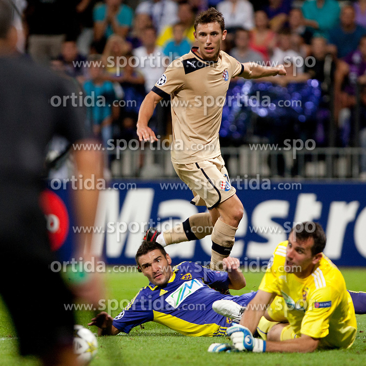 during Play-offs for Champions League between NK Maribor (Slovenia) and GNK Dinamo Zagreb (Croatia), on August 28, 2012, in Maribor, Slovenia. (Photo by Urban Urbanc / Sportida.com)