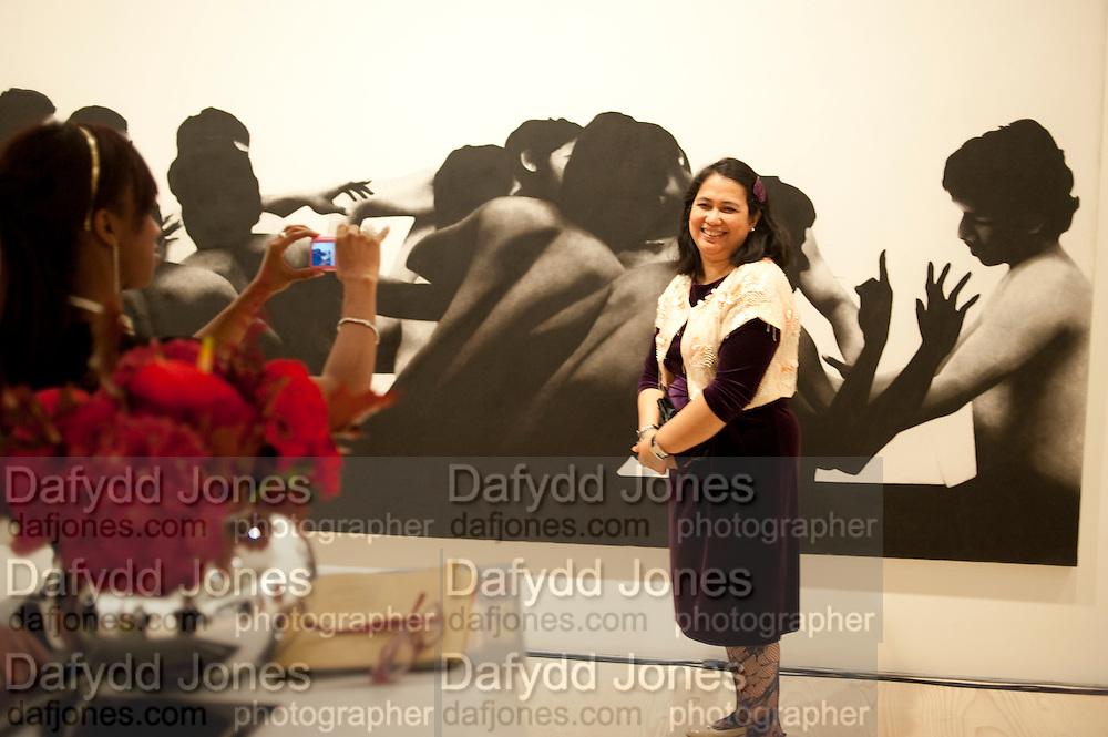 Indonesian Eye Contemporary Art Exhibition Reception, Saatchi Gallery. London. 9 September 2011. <br /> <br />  , -DO NOT ARCHIVE-&copy; Copyright Photograph by Dafydd Jones. 248 Clapham Rd. London SW9 0PZ. Tel 0207 820 0771. www.dafjones.com.