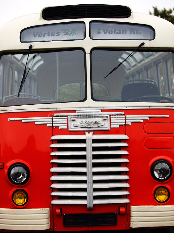 A bus from the 1956 revolution era, Budapest, Hungary.