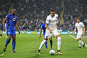 Jay-Roy Grot of Leeds United during the EFL Sky Bet Championship match between Cardiff City and Leeds United at the Cardiff City Stadium, Cardiff, Wales on 26 September 2017. Photo by Andrew Lewis.