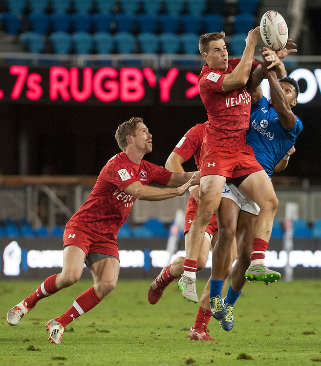 Canada play Samoa at the Silicon Valley Sevens in San Jose, California. November 4, 2017. <br /> <br /> By Jack Megaw.<br /> <br /> CANWSM<br /> <br /> <br /> <br /> www.jackmegaw.com<br /> <br /> jack@jackmegaw.com<br /> @jackmegawphoto<br /> [US] +1 610.764.3094<br /> [UK] +44 07481 764811
