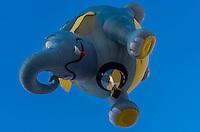 """A Special shape balloon called """"Sam"""", Albuquerque International Balloon Fiesta, Albuquerque, New Mexico USA."""