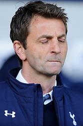 Caretaker Manager Tim Sherwood (ENG) of Tottenham Hotspur closes his eyes before kickoff - Photo mandatory by-line: Rogan Thomson/JMP - 07966 386802 - 12/04/2014 - SPORT - FOOTBALL - The Hawthorns Stadium - West Bromwich Albion v Tottenham Hotspur - Barclays Premier League.