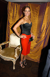 SOPHIE ANDERTON at a party to celebrate the 50th Anniversary of Gina Shoes held at The Bar, The Dorchester, Park Lane, London on 19th September 2006.<br />