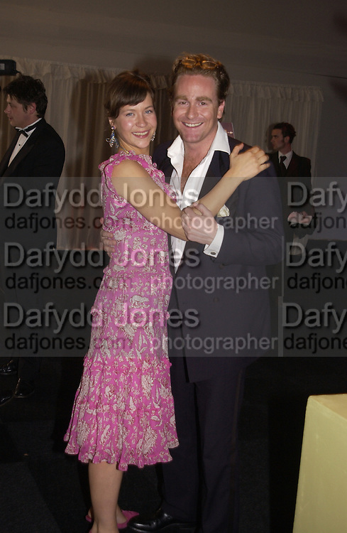 Natalie Ellingworth and Jos Trusted, Game Conservancy 26th London Ball, Battersea Park. 13 May 2004. SUPPLIED FOR ONE-TIME USE ONLY> DO NOT ARCHIVE. © Copyright Photograph by Dafydd Jones 66 Stockwell Park Rd. London SW9 0DA Tel 020 7733 0108 www.dafjones.com
