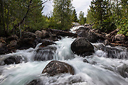 Taggart creek waterfall, Grand Teton National Park