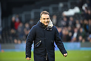 Sheffield Wednesday head coach Carlos Carvalhal during the Sky Bet Championship match between Fulham and Sheffield Wednesday at Craven Cottage, London, England on 2 January 2016. Photo by Matthew Redman.