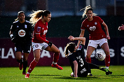 Ebony Salmon of Bristol City and Georgia Wilson - Mandatory by-line: Ryan Hiscott/JMP - 08/12/2019 - FOOTBALL - Stoke Gifford Stadium - Bristol, England - Bristol City Women v Birmingham City Women - Barclays FA Women's Super League