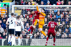 Roberto Firmino of Liverpool challenges Sergio Rico of Fulham - Mandatory by-line: Robbie Stephenson/JMP - 11/11/2018 - FOOTBALL - Anfield - Liverpool, England - Liverpool v Fulham - Premier League