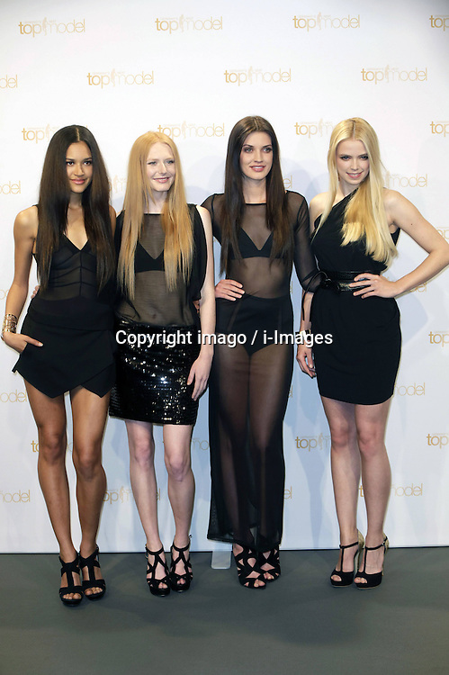 59711935  Contestants pose prior to Klum's June 1 birthday at a photo call for the reality television show and modelling competition 'Germany's Next Topmodel' at Waldorf Astoria on May 27, 2013 in Berlin, Germany.. Photo by: i-Images.UK ONLY