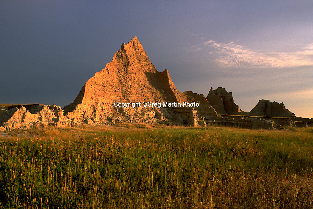Sunset photograph in  Badlands National Park