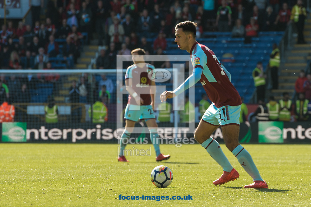Debutant Dwight McNeil during the Premier League match at Turf Moor, Burnley<br /> Picture by Matt Wilkinson/Focus Images Ltd 07814 960751<br /> 13/05/2018